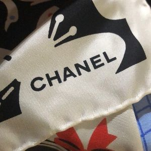 CHANEL Accessories - Chanel Silk Scarf